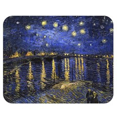 Vincent Van Gogh Starry Night Over The Rhone Double Sided Flano Blanket (medium)