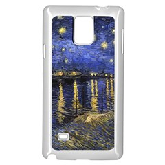 Vincent Van Gogh Starry Night Over The Rhone Samsung Galaxy Note 4 Case (white)