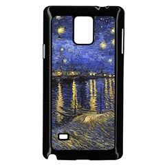 Vincent Van Gogh Starry Night Over The Rhone Samsung Galaxy Note 4 Case (Black)