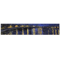 Vincent Van Gogh Starry Night Over The Rhone Flano Scarf (Large)