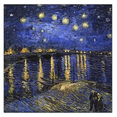 Vincent Van Gogh Starry Night Over The Rhone Large Satin Scarf (Square)