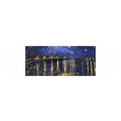 Vincent Van Gogh Starry Night Over The Rhone Satin Scarf (Oblong)