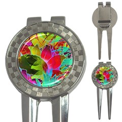 Floral Abstract 1 3-in-1 Golf Divots