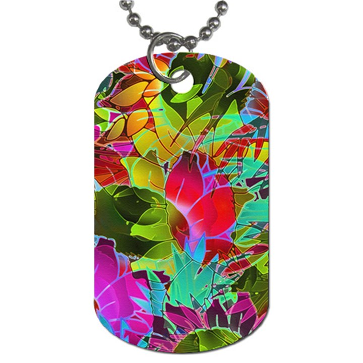 Floral Abstract 1 Dog Tag (One Side)
