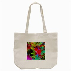 Floral Abstract 1 Tote Bag (Cream)