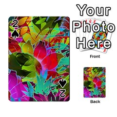 Floral Abstract 1 Playing Cards 54 Designs