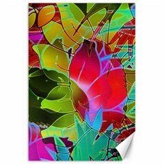 Floral Abstract 1 Canvas 20  x 30