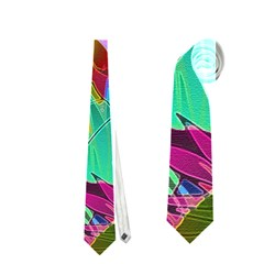 Floral Abstract 1 Neckties (one Side)