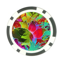 Floral Abstract 1 Poker Chip Card Guards