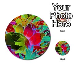 Floral Abstract 1 Multi Purpose Cards (round)