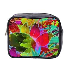 Floral Abstract 1 Mini Toiletries Bag 2 Side