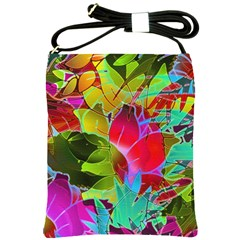 Floral Abstract 1 Shoulder Sling Bags