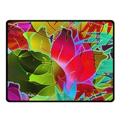 Floral Abstract 1 Fleece Blanket (Small)