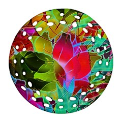 Floral Abstract 1 Ornament (Round Filigree)