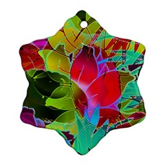 Floral Abstract 1 Snowflake Ornament (2-Side)