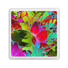 Floral Abstract 1 Memory Card Reader (Square)