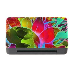 Floral Abstract 1 Memory Card Reader with CF