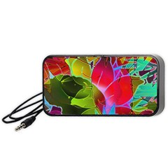 Floral Abstract 1 Portable Speaker (Black)