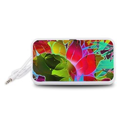 Floral Abstract 1 Portable Speaker (White)