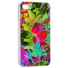 Floral Abstract 1 Apple iPhone 4/4s Seamless Case (White)