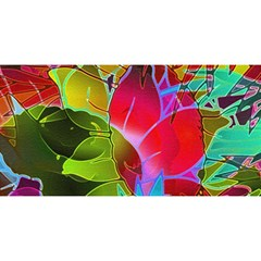Floral Abstract 1 You Are Invited 3d Greeting Card (8x4)