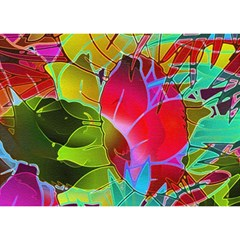 Floral Abstract 1 Birthday Cake 3d Greeting Card (7x5)
