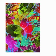 Floral Abstract 1 Large Garden Flag (Two Sides)