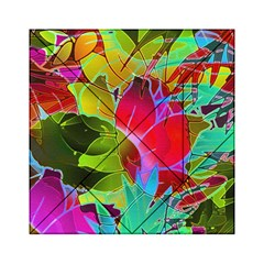 Floral Abstract 1 Acrylic Tangram Puzzle (6  X 6 )