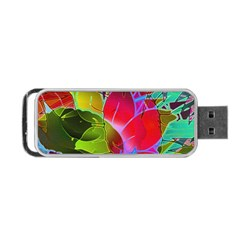 Floral Abstract 1 Portable Usb Flash (one Side)