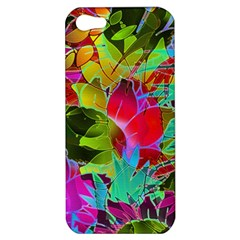 Floral Abstract 1 Apple iPhone 5 Hardshell Case
