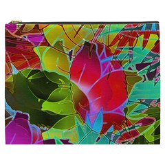Floral Abstract 1 Cosmetic Bag (XXXL)