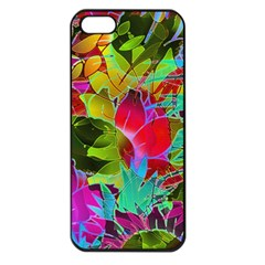Floral Abstract 1 Apple iPhone 5 Seamless Case (Black)