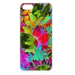 Floral Abstract 1 Apple Iphone 5 Seamless Case (white)