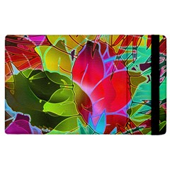 Floral Abstract 1 Apple Ipad 2 Flip Case