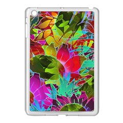 Floral Abstract 1 Apple Ipad Mini Case (white)