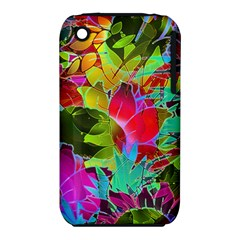 Floral Abstract 1 Apple iPhone 3G/3GS Hardshell Case (PC+Silicone)