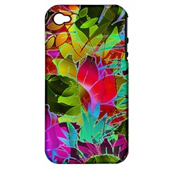 Floral Abstract 1 Apple iPhone 4/4S Hardshell Case (PC+Silicone)
