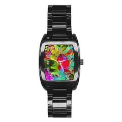 Floral Abstract 1 Stainless Steel Barrel Watch