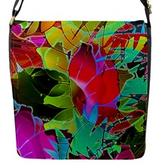 Floral Abstract 1 Flap Messenger Bag (s)