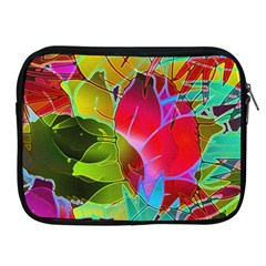 Floral Abstract 1 Apple Ipad 2/3/4 Zipper Cases