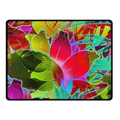 Floral Abstract 1 Double Sided Fleece Blanket (Small)