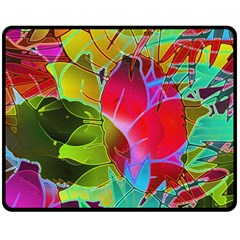 Floral Abstract 1 Double Sided Fleece Blanket (Medium)