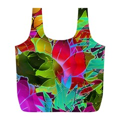 Floral Abstract 1 Full Print Recycle Bags (L)