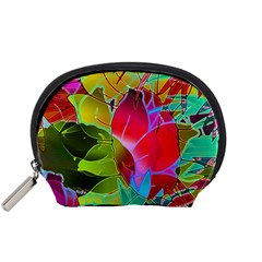Floral Abstract 1 Accessory Pouches (small)