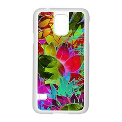 Floral Abstract 1 Samsung Galaxy S5 Case (White)