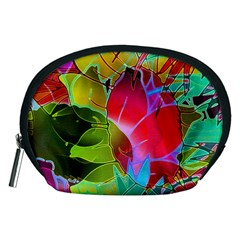 Floral Abstract 1 Accessory Pouches (medium)