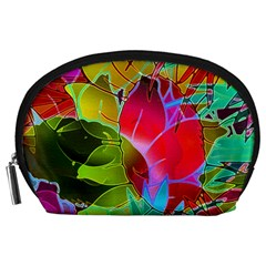 Floral Abstract 1 Accessory Pouches (Large)
