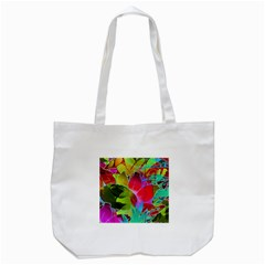 Floral Abstract 1 Tote Bag (white)