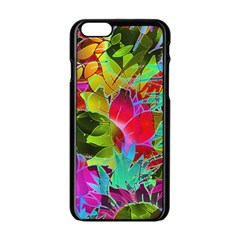 Floral Abstract 1 Apple iPhone 6/6S Black Enamel Case