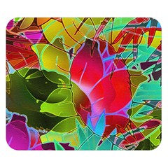 Floral Abstract 1 Double Sided Flano Blanket (small)